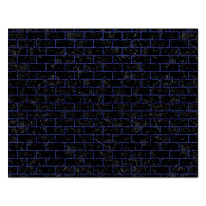 BRICK1 BLACK MARBLE & BLUE LEATHER Jigsaw Puzzle (Rectangular)