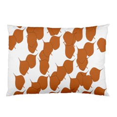Machovka Autumn Leaves Brown Pillow Case