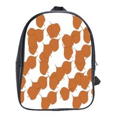 Machovka Autumn Leaves Brown School Bags (XL)