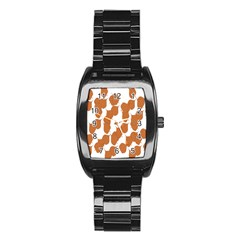 Machovka Autumn Leaves Brown Stainless Steel Barrel Watch