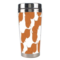 Machovka Autumn Leaves Brown Stainless Steel Travel Tumblers