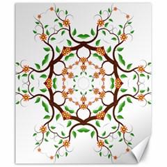 Floral Tree Leaf Flower Star Canvas 20  x 24