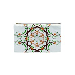 Floral Tree Leaf Flower Star Cosmetic Bag (Small)