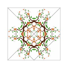 Floral Tree Leaf Flower Star Acrylic Tangram Puzzle (6  x 6 )