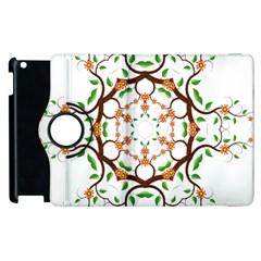 Floral Tree Leaf Flower Star Apple iPad 2 Flip 360 Case
