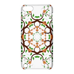 Floral Tree Leaf Flower Star Apple iPod Touch 5 Hardshell Case with Stand