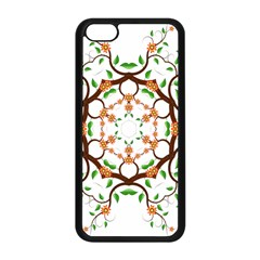 Floral Tree Leaf Flower Star Apple Iphone 5c Seamless Case (black)