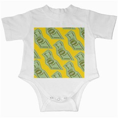 Money Dollar $ Sign Green Yellow Infant Creepers