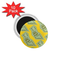 Money Dollar $ Sign Green Yellow 1 75  Magnets (10 Pack)