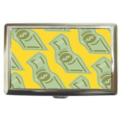 Money Dollar $ Sign Green Yellow Cigarette Money Cases