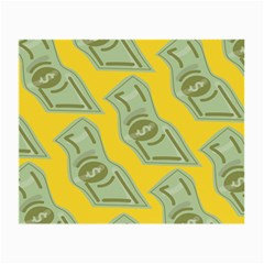 Money Dollar $ Sign Green Yellow Small Glasses Cloth