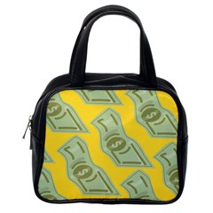 Money Dollar $ Sign Green Yellow Classic Handbags (one Side)