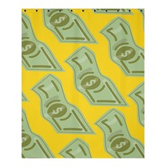 Money Dollar $ Sign Green Yellow Shower Curtain 60  x 72  (Medium)