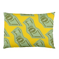 Money Dollar $ Sign Green Yellow Pillow Case (two Sides)