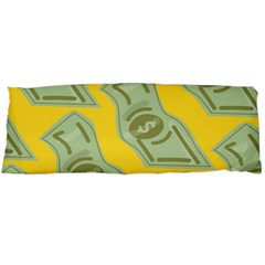 Money Dollar $ Sign Green Yellow Body Pillow Case (Dakimakura)