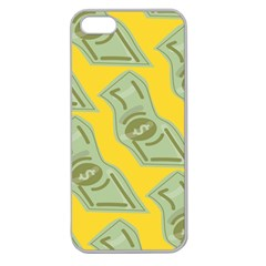 Money Dollar $ Sign Green Yellow Apple Seamless iPhone 5 Case (Clear)