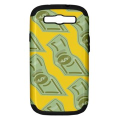 Money Dollar $ Sign Green Yellow Samsung Galaxy S III Hardshell Case (PC+Silicone)