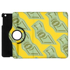 Money Dollar $ Sign Green Yellow Apple iPad Mini Flip 360 Case