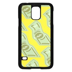 Money Dollar $ Sign Green Yellow Samsung Galaxy S5 Case (Black)