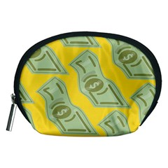 Money Dollar $ Sign Green Yellow Accessory Pouches (Medium)