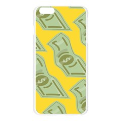 Money Dollar $ Sign Green Yellow Apple Seamless iPhone 6 Plus/6S Plus Case (Transparent)