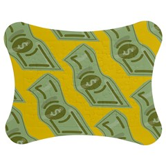Money Dollar $ Sign Green Yellow Jigsaw Puzzle Photo Stand (Bow)