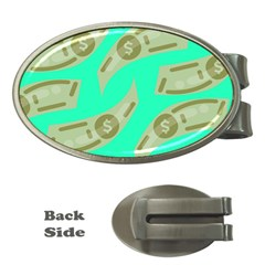 Money Dollar $ Sign Green Money Clips (Oval)
