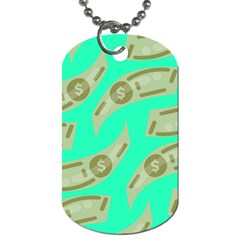Money Dollar $ Sign Green Dog Tag (Two Sides)
