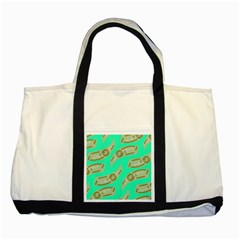 Money Dollar $ Sign Green Two Tone Tote Bag
