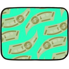 Money Dollar $ Sign Green Double Sided Fleece Blanket (mini)