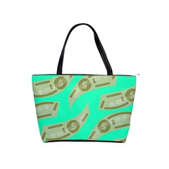 Money Dollar $ Sign Green Shoulder Handbags