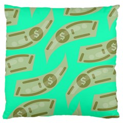 Money Dollar $ Sign Green Large Cushion Case (Two Sides)