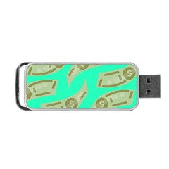 Money Dollar $ Sign Green Portable USB Flash (Two Sides)