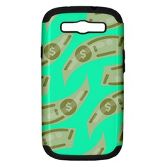 Money Dollar $ Sign Green Samsung Galaxy S III Hardshell Case (PC+Silicone)