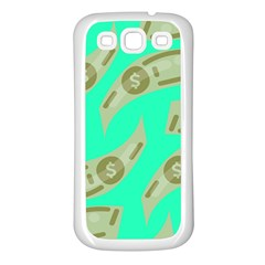 Money Dollar $ Sign Green Samsung Galaxy S3 Back Case (White)