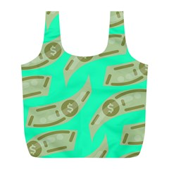 Money Dollar $ Sign Green Full Print Recycle Bags (L)