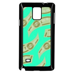 Money Dollar $ Sign Green Samsung Galaxy Note 4 Case (black)