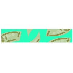 Money Dollar $ Sign Green Flano Scarf (Large)