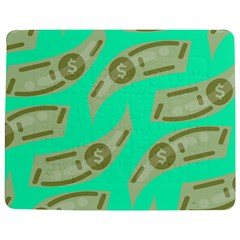 Money Dollar $ Sign Green Jigsaw Puzzle Photo Stand (Rectangular)