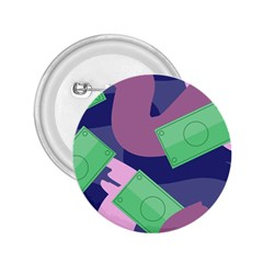 Money Dollar Green Purple Pink 2.25  Buttons