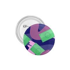 Money Dollar Green Purple Pink 1.75  Buttons