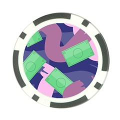 Money Dollar Green Purple Pink Poker Chip Card Guard (10 pack)