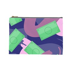 Money Dollar Green Purple Pink Cosmetic Bag (Large)