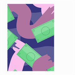 Money Dollar Green Purple Pink Small Garden Flag (Two Sides)