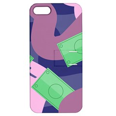 Money Dollar Green Purple Pink Apple iPhone 5 Hardshell Case with Stand