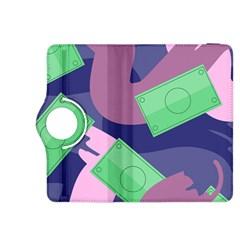 Money Dollar Green Purple Pink Kindle Fire HDX 8.9  Flip 360 Case