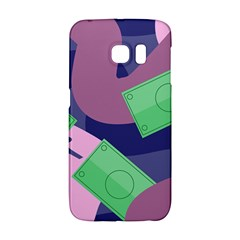 Money Dollar Green Purple Pink Galaxy S6 Edge