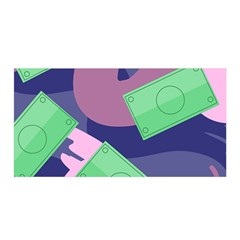 Money Dollar Green Purple Pink Satin Wrap