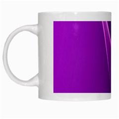 Purple Line White Mugs