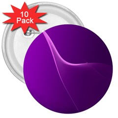 Purple Line 3  Buttons (10 pack)